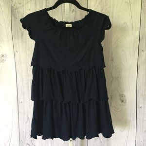 OSHKOSH Navy Blue Girl's 6x Tiered Dress EUC